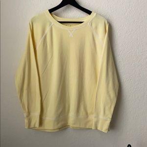 Eddie Bauer Vintage Buttercup Yellow Sweatshirt L
